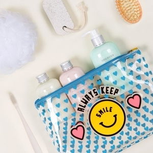 [모노폴리] MERRYGRIN CLEAR WASH POUCH L/M SET 여행용 워시 파우치 4 colors